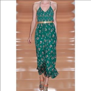 Rebecca Taylor green silk ballet dress